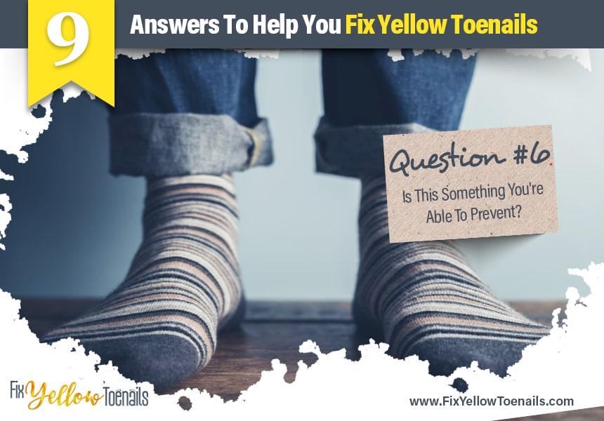 causes of yellow toenails
